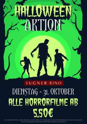 Lugner Kino: alle Horrorfilme am 31.10. (Halloween) ab 5,50