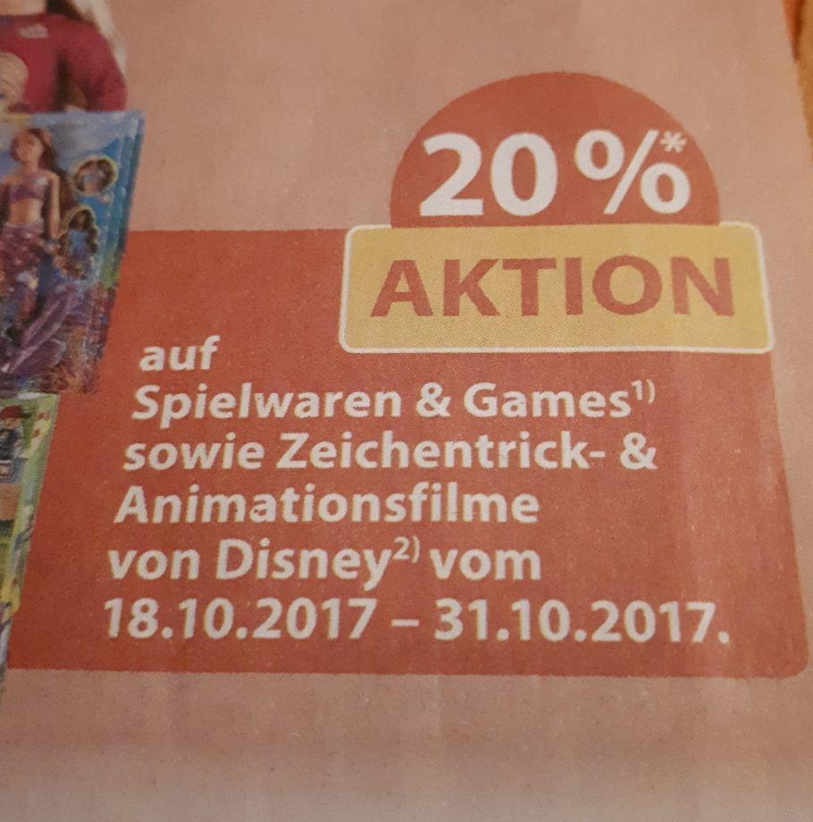 Müller -20% auf Spielwaren & Games vom 18.10 bis 31.10