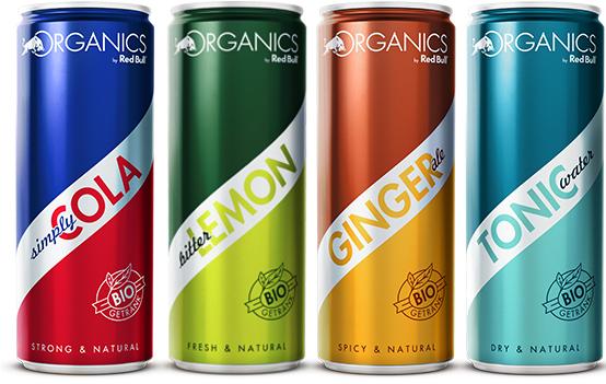 4 Dosen der neuen Organics by Red Bull kostenlos