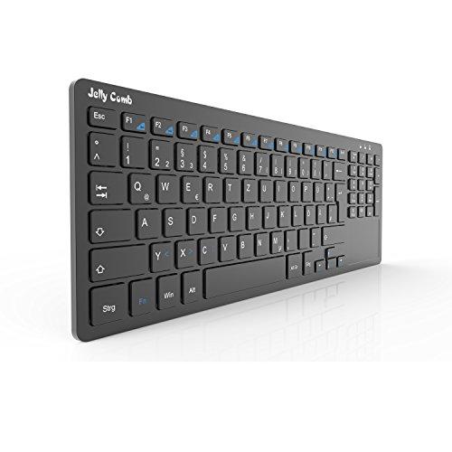Kabellose Tastatur - All-in-One Media Ultradünne Tastatur mit Touchpad und Nummernblöcke  um 16,99€ statt 26,99€