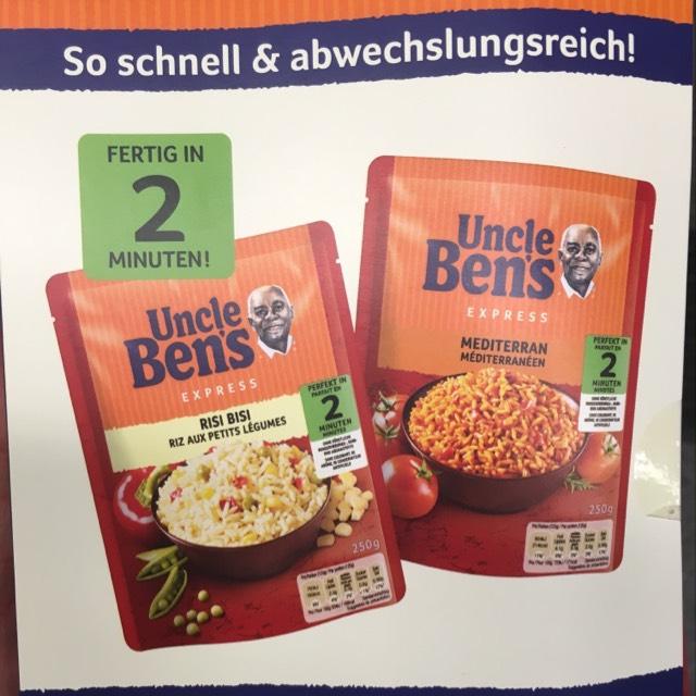 Gratis Uncle Ben's Express Reis am Hauptbahnhof Wien