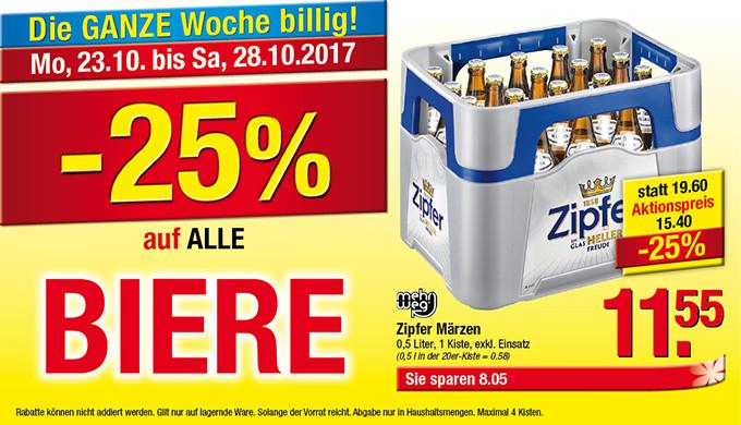Maxi Markt: -25% auf alle Biere
