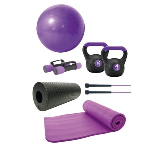 Fitness-Set (inkl. Kettlebells u Faszienrolle)