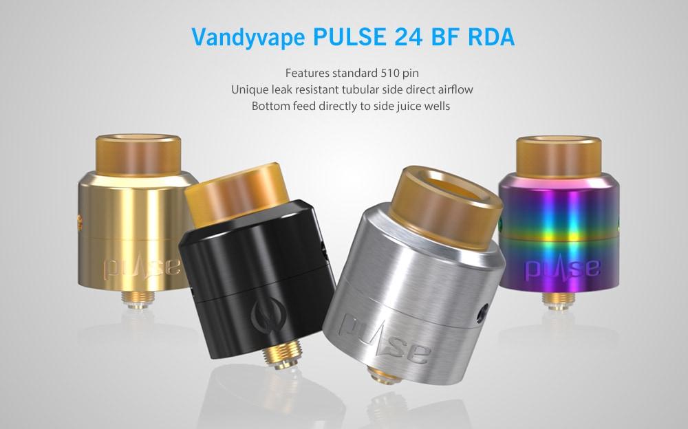 [Gearbest] Original Vandyvape PULSE 24 BF RDA (schwarz, gold, silber, bunt) Verdampfer für 20,30 €