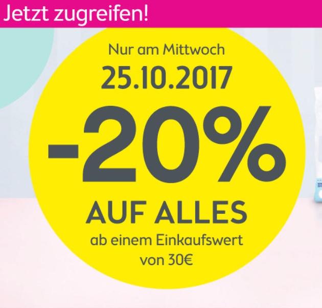 BIPA: 20% Rabatt auf den kompletten Einkauf ab 30€- nur am 25. Oktober
