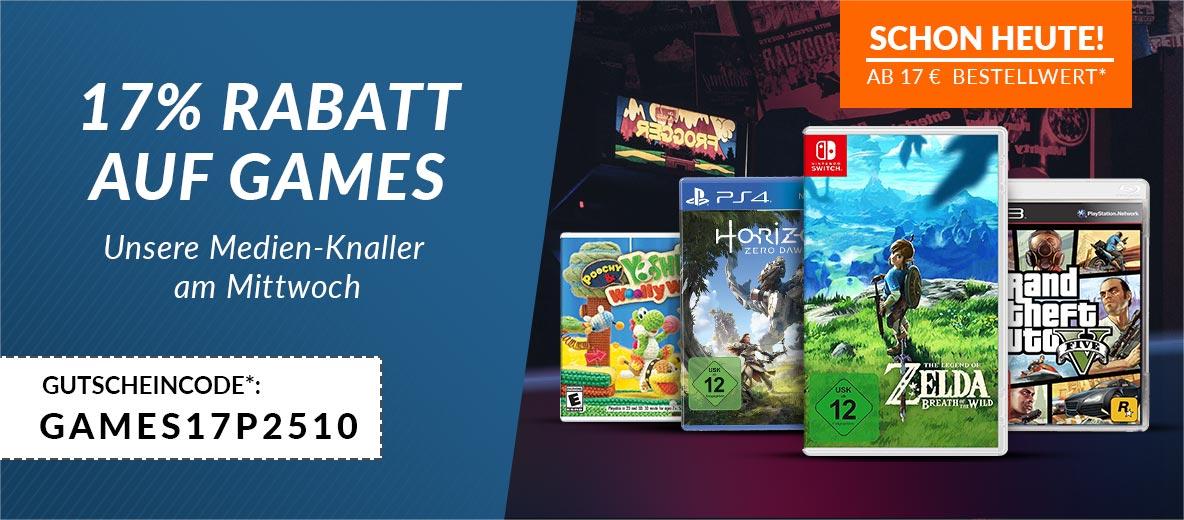 reBuy: 17% Rabatt auf alle Games ab 17€ - nur bis zum 25. Oktober