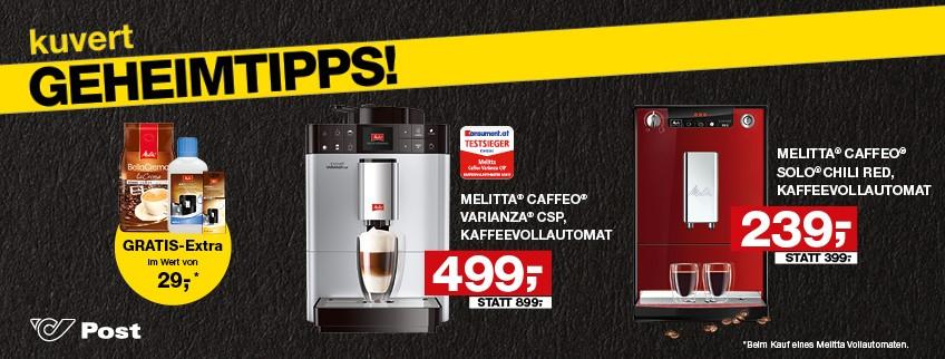 Melitta Kaffeevollautomaten für 239 statt 300 bzw. 499 statt 615 Euro