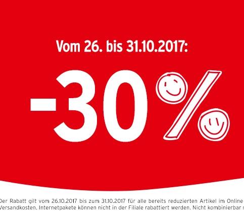 Ernsting's family: 30% Rabatt auf bereits reduzierte Ware - nur bis zum 31. Oktober