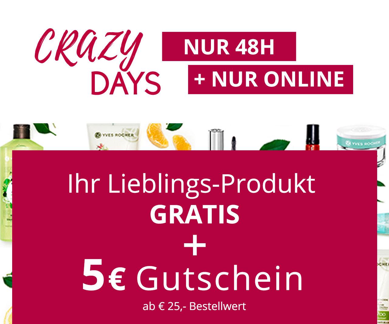 Yves Rocher: Produkt nach Wahl kostenlos + 5€ Rabatt ab 25€ + Versandkostenfrei ab 20€
