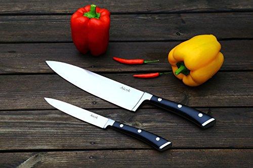 Edelstahl Klinge Messerset (20cm +12cm) um 7,99€