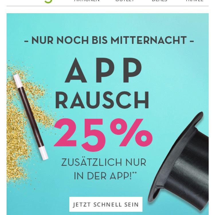 -25% zusätzlich auf alles nur wenn man über die limango app bestellt (limango.de)