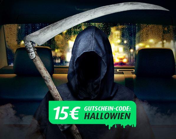 Mytaxi 15€ Gutschein zu Halloween
