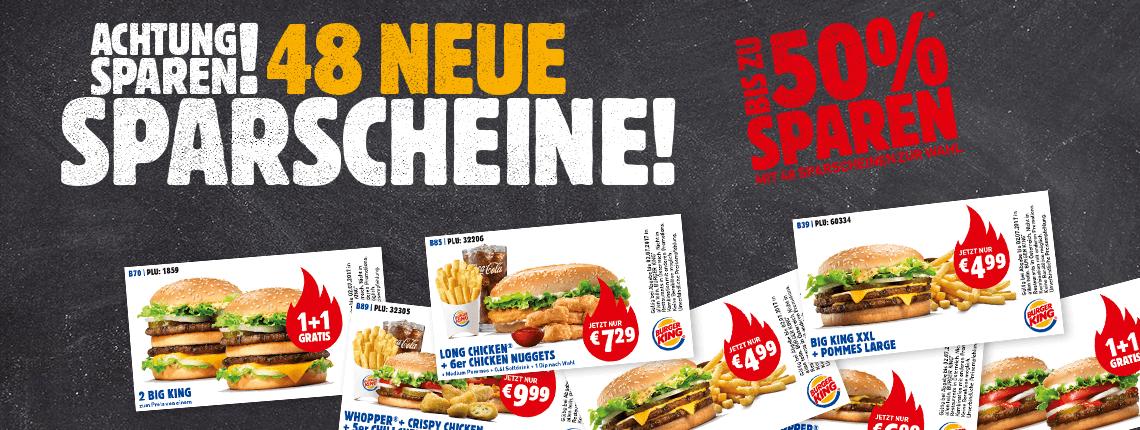 Neue Burger King Gutscheine - gültig bis zum 3. Dezember 2017