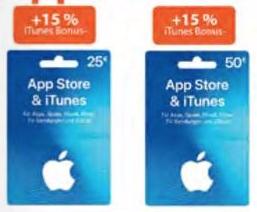 Müller: 15% Bonusguthaben auf 25€ / 50€ iTunes Karten vom 1. bis zum 7. November