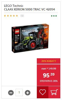 INTERSPAR -20% auf LEGO (bis -40% auf UVP)