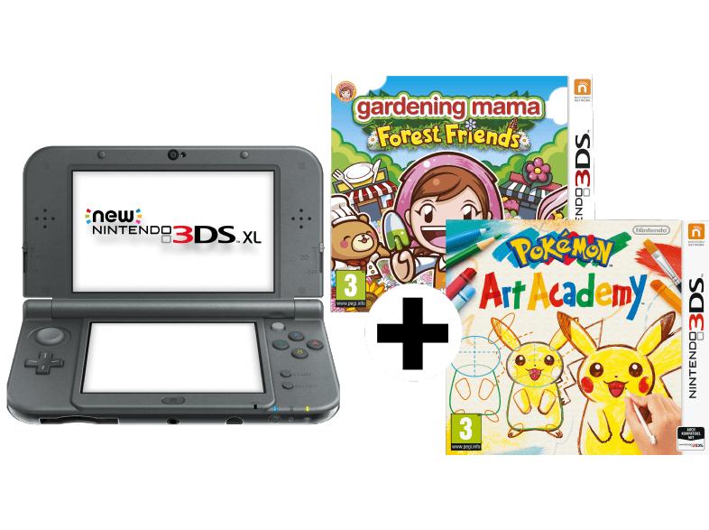 [Mediamarkt.at] NINTENDO New Nintendo 3DSXL Metallic-Schwarz + Gardening Mama: Forest Friends + Pokèmon Art Academy für €188,- versandkostenfrei