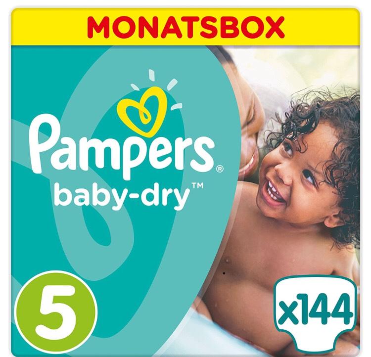 20% + 5€ —> Pampers Baby Dry Windeln, Gr. 5 (144 Stk)