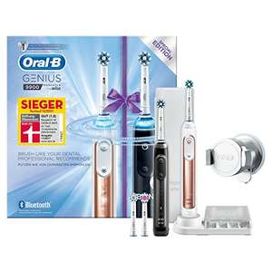 oral b genius 9900 zahnb rste 4 aufsteckb rsten zwei handst cken und reise etui preisj ger at. Black Bedroom Furniture Sets. Home Design Ideas