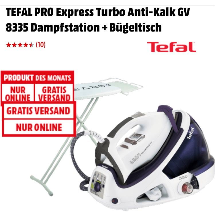 MediaMarkt TEFAL PRO Express Turbo Anti-Kalk GV 8335 Dampfstation + Bügeltisch