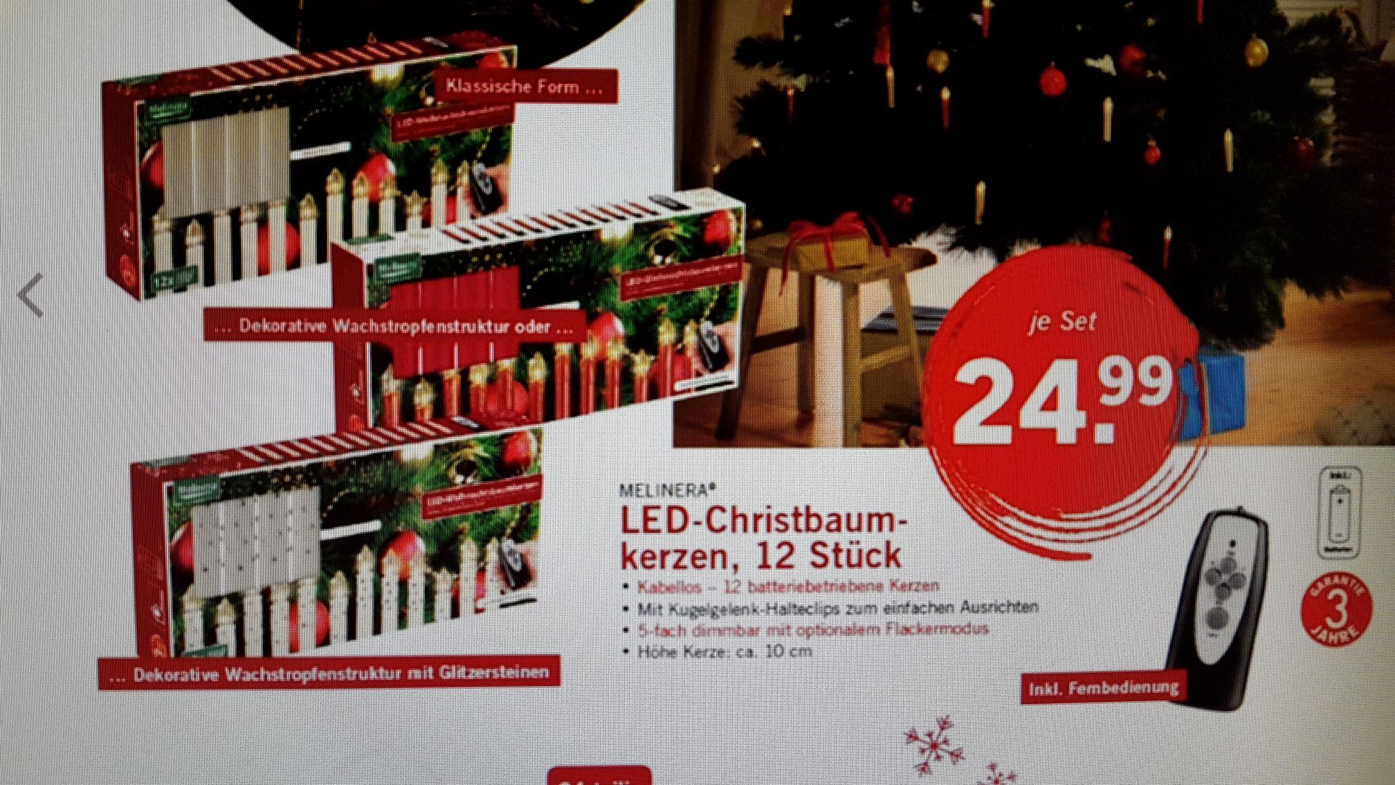 LED-Christbaumkerzen, 12 Stück bei LIDL ab 13.11.2017