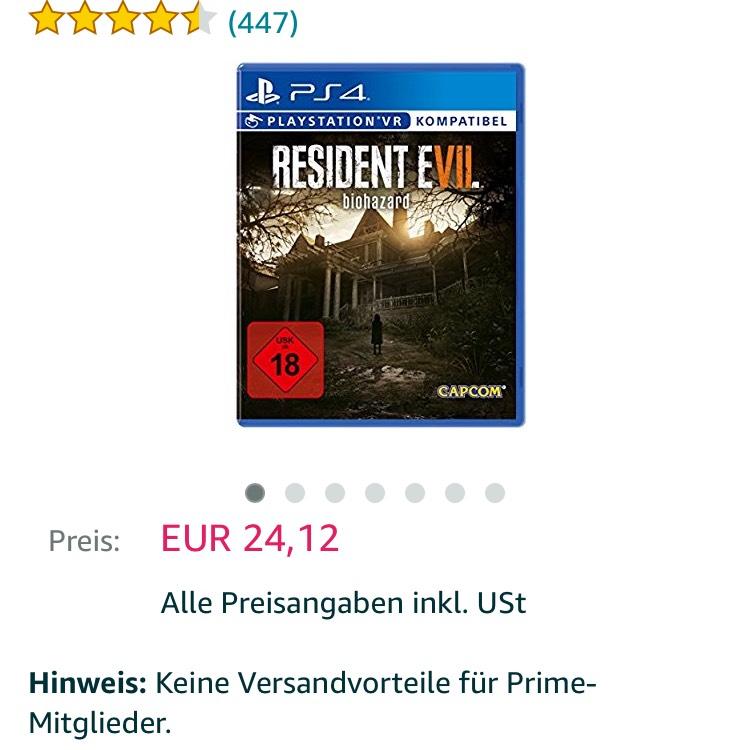 PS 4 Resident Evil 7