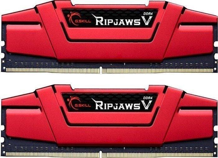 Amazon.it: G.Skill RipJaws V rot DIMM Kit 32GB, DDR4-3200, CL15-15-15-35 für 252,35€