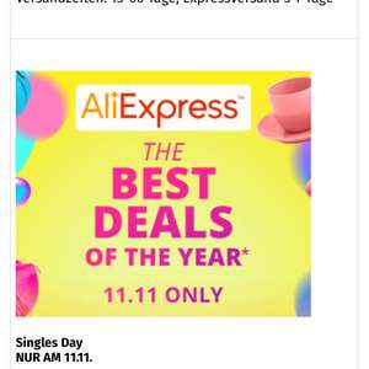 NEU 5% Benefitworld Cashback für Aliexpress Einkäufe(nur am 11.11)