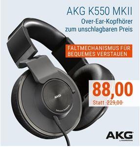 [cyberport.at] AKG K550 MKII Over-Ear Kopfhörer schwarz für €88,- + 2,99 Versand