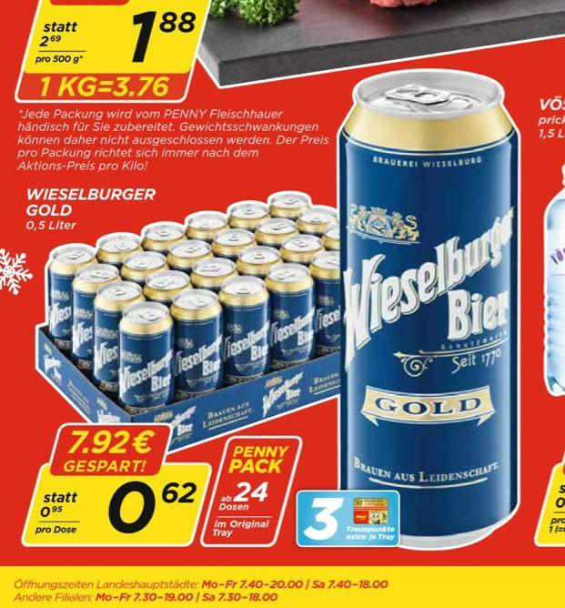 KONTER-DEAL zum Frankenmarkter Mineral: Wieselburger 0,5l 24er Palette
