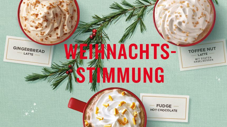 Starbucks: 1+1 Gratis auf Weihnachtsgetränke - nur zwischen 14 und 17 Uhr
