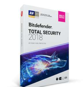 Bitdefender Total Security 2018 - 6 Monate gratis