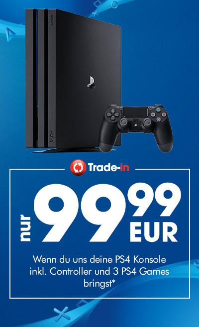 GameStop: PlayStation 4 Pro 1TB für 99,99€+ alte PS4 + Controller + 3 Spiele