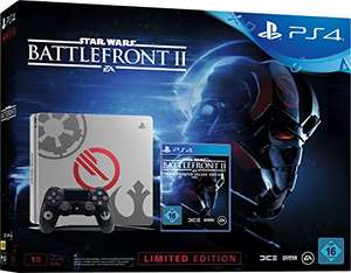 PlayStation 4 - Konsole (1TB) Limited Star Wars Battlefront 2 Design inkl. Battlefront II Elite Trooper Deluxe Edition für 299€