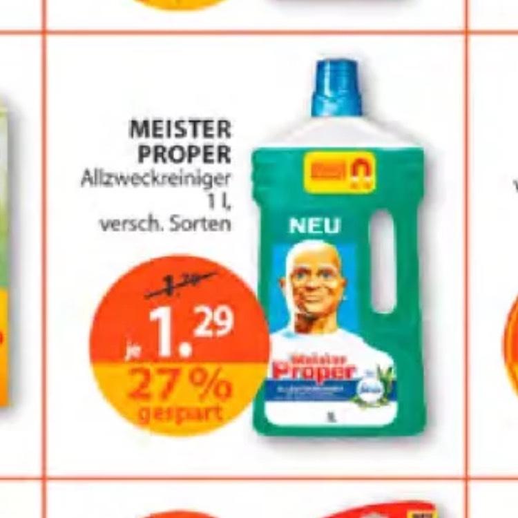 Meister proper um 0,29€ bei müller