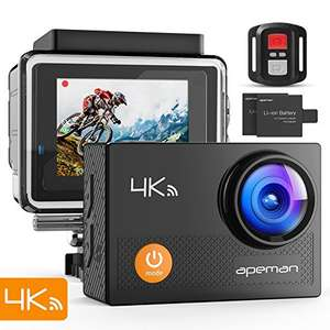 Action Cam 4K WIFI Camera Ultra Full HD Unterwasser Kamera  für 52,49€