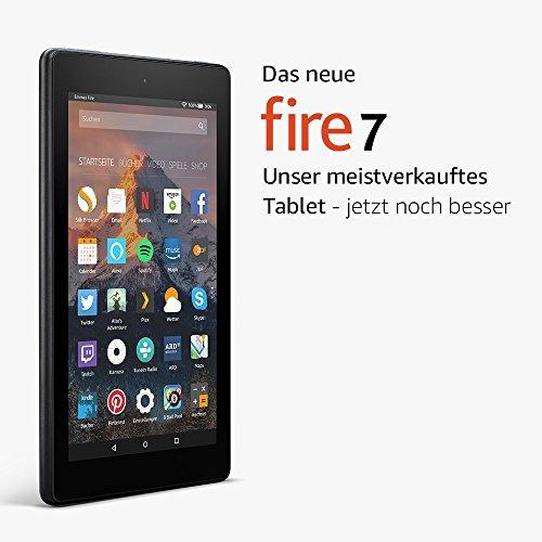 [Amazon] Das neue Fire 7-Tablet mit Alexa, 17,7 cm (7 Zoll) Display, 8 GB (Schwarz) um nur 39,99€ [PRIME]