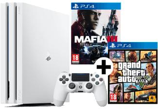 SONY PlayStation 4 Pro 1TB weiß (CUH-7000) inkl. GTA V + MAFIA III