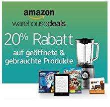 Amazon Warehouse Deals - 20% auf alles - auch bei .uk / .fr / .it