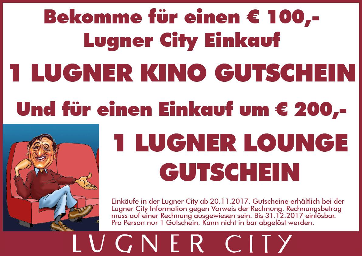 Lugner City: GRATIS Kino Ticket für Einkauf ab 100 €