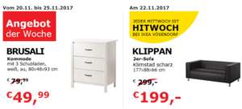 IKEA Wien Vösendorf (SCS): 2er Sofa um 199 € / Kommode um 50 € - bis 25.11.2017