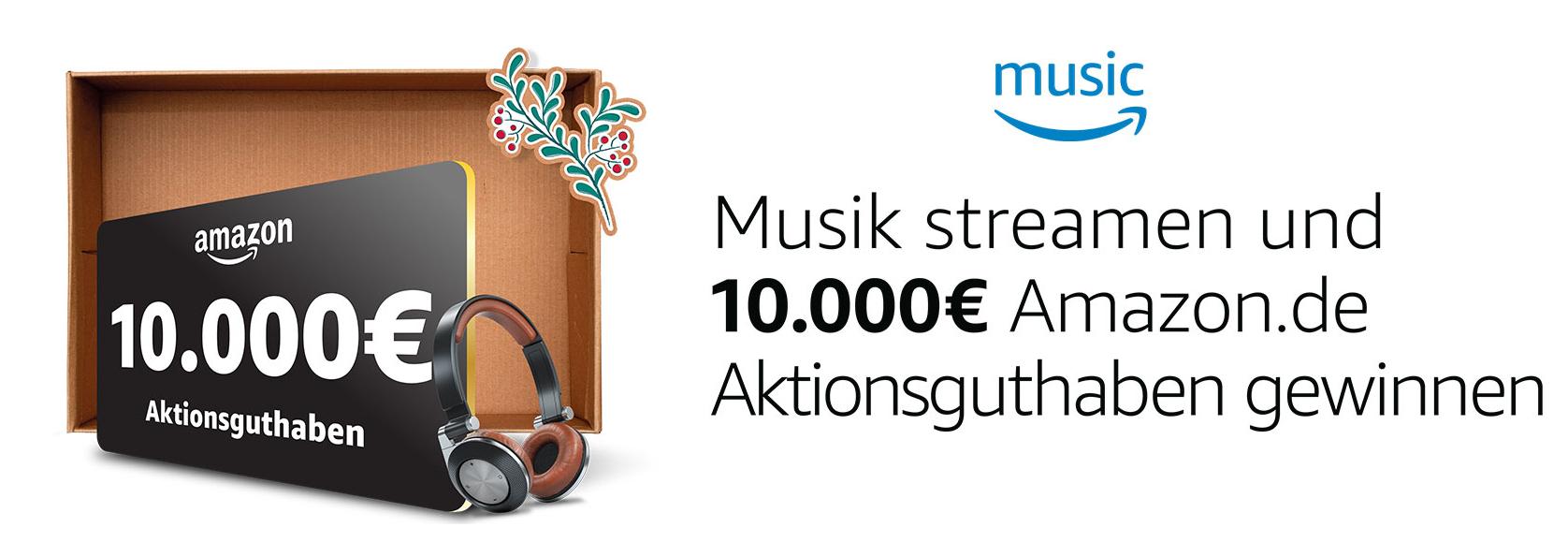 GEWINNSPIEL: Musik streamen und 10.000€ Amazon Gutschein gewinnen