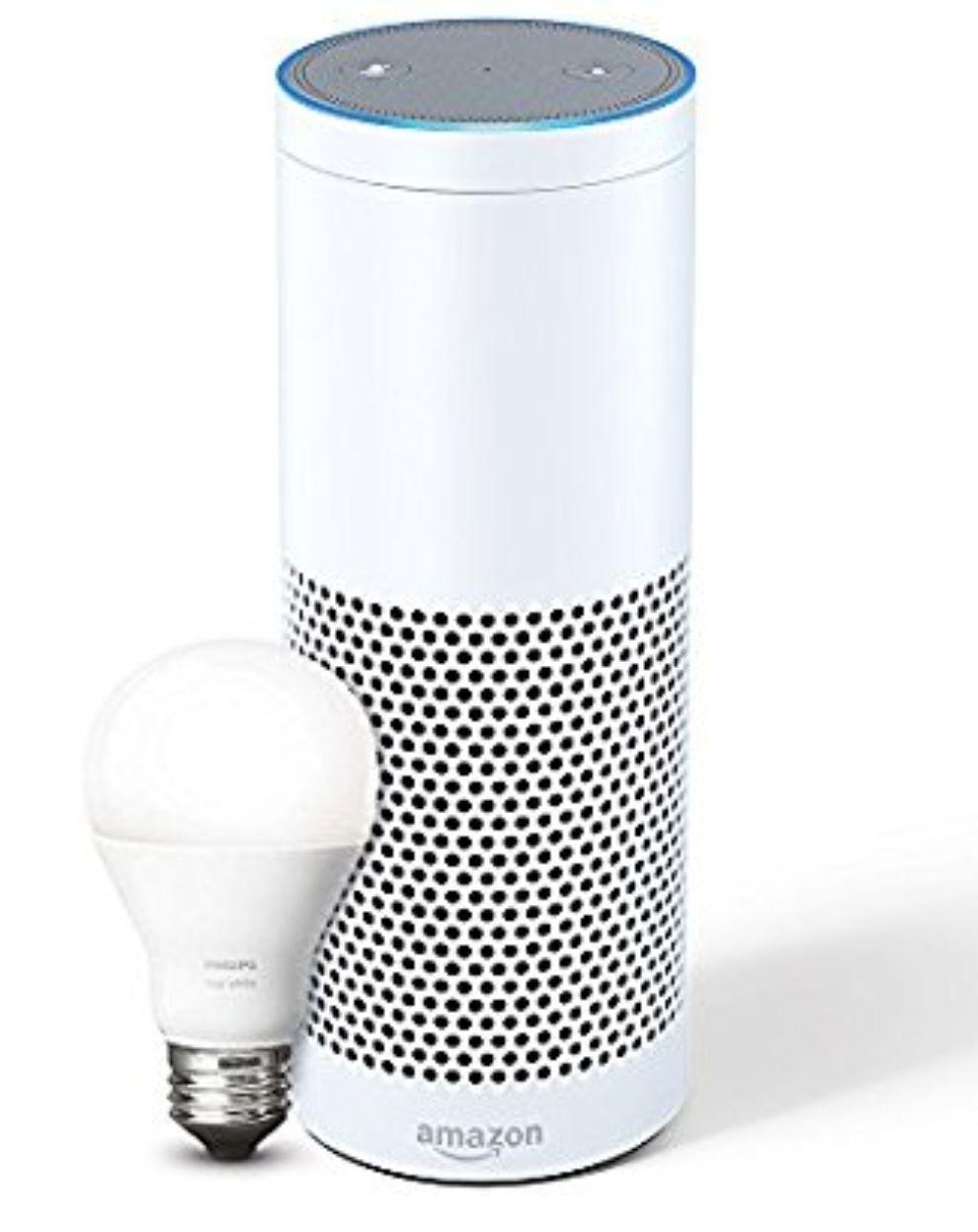 DREIFACH SPAREN! Amazon Echo Plus mit Philips Hue E27 Lampe und zusätzlich Tp Link HS100 Wlan-Steckdose
