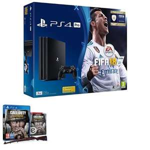 Amazon.co.uk: PS4 Pro + Fifa 18 + Call of Duty: WW2 um ca. 345€