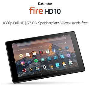 Amazon - Fire HD 10-Tablet mit Alexa Hands-free, (10,1 Zoll) 1080p Full HD, 32GB