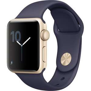 Apple Watch Series 2 (38mm, gold/mitternachtsblau)