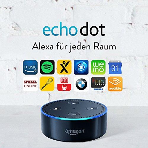 Echo Dot 2.Gen schwarz & weiß um 35,28€ (und Paketpreis mit TP-Link HS100 intelligente Steckdose um nur 9,99€ zusätzlich)