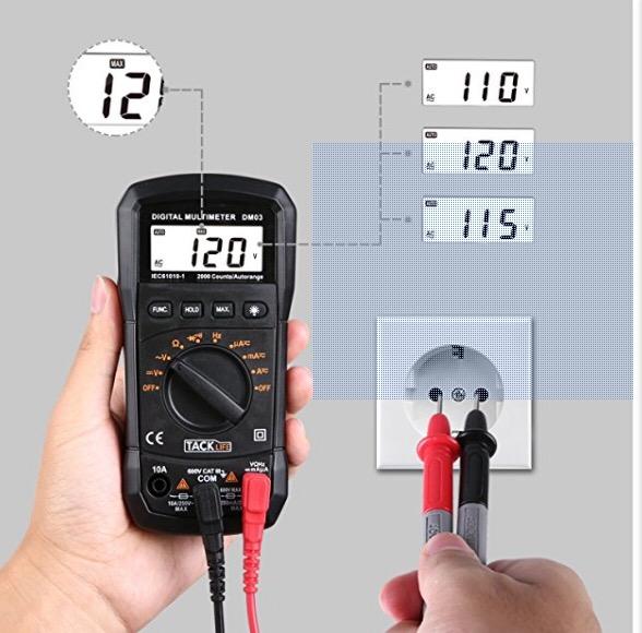 Digital Multimeter, Klassischer Spannungsprüfer mit Hintergrundbeleuchtung für 10,98€ statt 15,98€