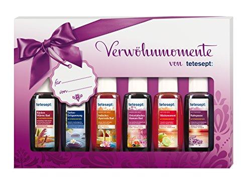 (amazon de) Tetesept Bäder Geschenkset Verwöhnmomente, 1er Pack (6 x 20 ml)