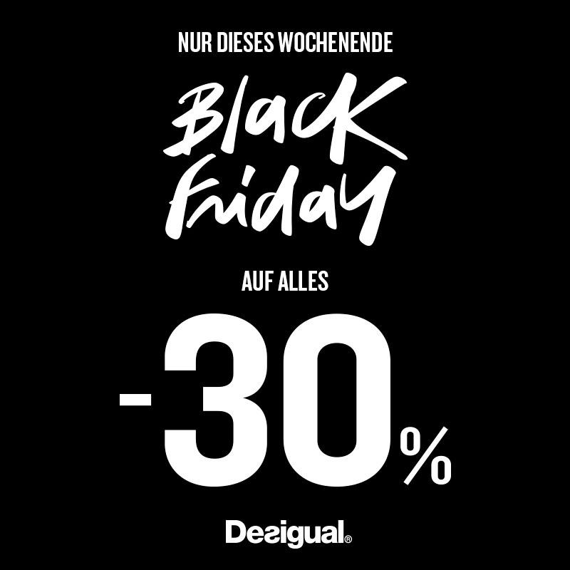 Desigual Black Friday: 30% Rabatt auf den kompletten Einkauf