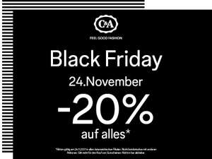 C&A Black Friday: 20% Rabatt auf alles